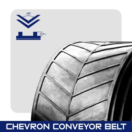 Chevron Conveyor belt สายพานลำเลียงบั้ง