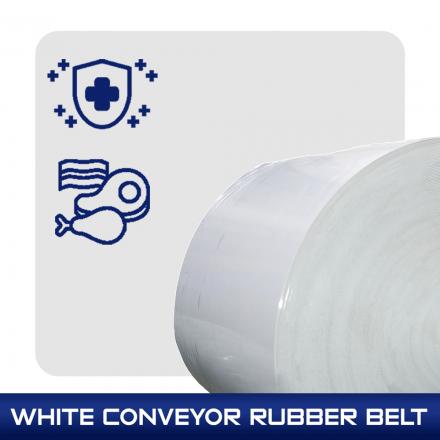 White Conveyor Rubber Belt สายพานสีขาว